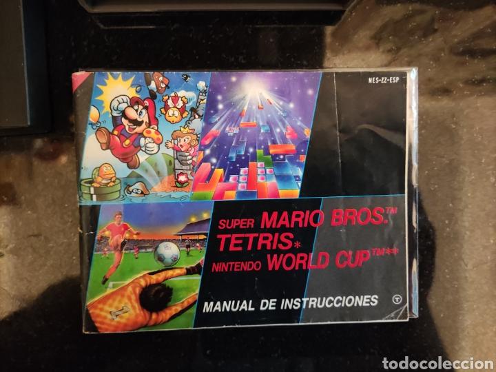 Videojuegos y Consolas: Mario / Tetris / World cup y Manual Nintendo Nes - Foto 2 - 248086125