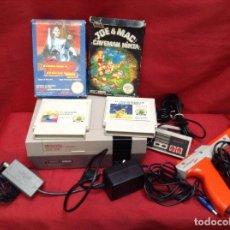Videojuegos y Consolas: CONSOLA NINTENDO NES COMPLETA CON DOS MANDOS Y PISTOLA Y 4 VÍDEO JUEGOS. Lote 248093650