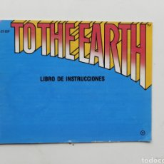 Videojuegos y Consolas: MANUAL TO THE EARTH NINTENDO NES. Lote 254581320