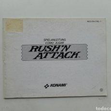 Videojuegos y Consolas: MANUAL RUSH'N ATTACK NINTENDO NES. Lote 254581625