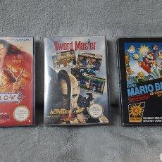 Videojuegos y Consolas: LOTE NES SWORD MASTER WILLOW SUPER MARIO BROS NINTENDO PAL CONSOLA ESPAÑA. Lote 260875645