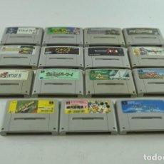 Videojuegos y Consolas: NINTENDO SUPER FAMICON (JAP NES) 15 VIDEOJUEGOS. Lote 261182535