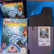Videojuegos y Consolas: SUPER TURRICAN NINTENDO NES PAL ESP, COMPLETO CON INSTRUCCIONES.. Lote 262141755