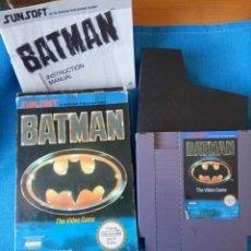 Videojuegos y Consolas: BATMAN NINTENDO NES PAL ESP, COMPLETO CON INSTRUCCIONES.. Lote 262141960