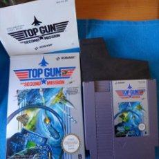 Videojuegos y Consolas: TOP GUN SECOND MISSION NINTENDO NES PAL ESP, COMPLETO CON INSTRUCCIONES.. Lote 262142140