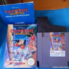 Videojuegos y Consolas: CHIP N DALE NINTENDO NES PAL ESP, DISNEY. COMPLETO CON INSTRUCCIONES... Lote 262144585