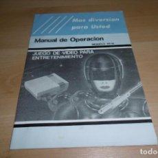 Videojuegos y Consolas: MANUAL DE USUARIO INSTRUCCIONES NASA CLONICA NINTENDO NES. Lote 266134438