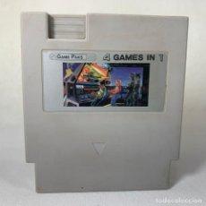 Videojuegos y Consolas: VIDEOJUEGO NINTENDO NES - GAME PAKS - 4 GAMES IN 1 - CLÓNICO. Lote 269197638