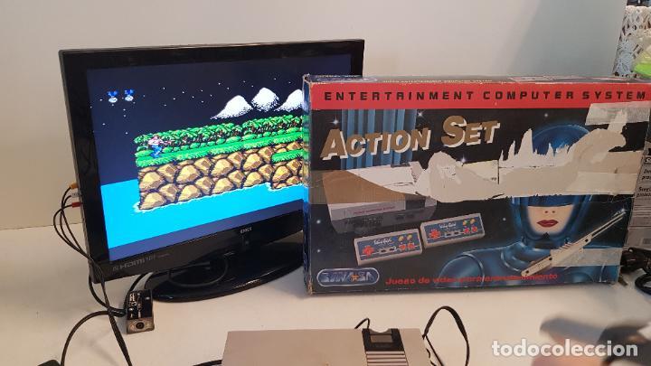 Videojuegos y Consolas: Consola Action Set SINASA. Clon, Nintendo Nes, símil, con caja original. - Foto 6 - 269302143