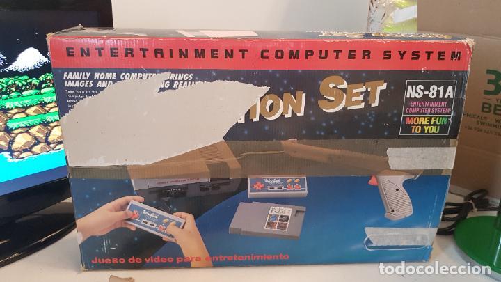 Videojuegos y Consolas: Consola Action Set SINASA. Clon, Nintendo Nes, símil, con caja original. - Foto 7 - 269302143