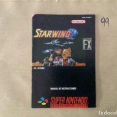 Videojuegos y Consolas: H1. MANUAL STARWING SNES SÚPER NINTENDO. Lote 269413393