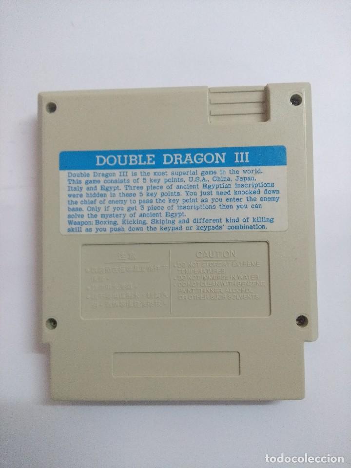 Videojuegos y Consolas: JUEGO PARA NINTENDO NES/DOUBLE DRAGON III. - Foto 2 - 276997593