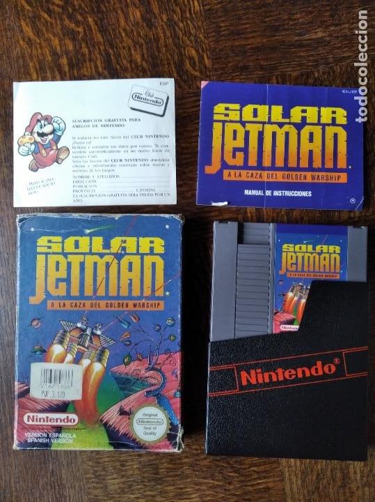 SOLAR JETMAN. A LA CAZA DEL GOLDEN WARSHIP - NINTENDO NES PAL ESPAÑA- FUNCIONANDO EN CAJA (Juguetes - Videojuegos y Consolas - Nintendo - Nes)