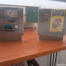 Videojuegos y Consolas: SUPER MARIO BROS 1 Y 3 DE NINTENDO NES. Lote 294385193
