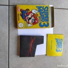 Videojuegos y Consolas: CAJA Y MANUAL ORIGINALES ( SIN EL JUEGO) MARIO BROS 3 NINTENDO NES PAL-ESPAÑA. Lote 295776218