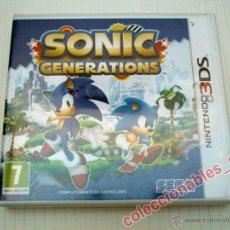 Videojuegos y Consolas: SONIC GENERATIONS PARA NINTENDO 3DS PAL ESPAÑA NUEVO Y PRECINTADO. Lote 72307658