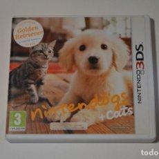 Videojuegos y Consolas: JUEGO NINTENDO 3DS NINTENDOGS GOLDEN RETRIEVER Y NUEVOS AMIGOS + CATS 2011 SIMULADOR MASCOTAS. Lote 91723960
