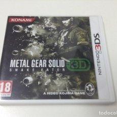 Videojuegos y Consolas: METAL GEAR SOLID SNAKE EATER 3D. Lote 95226383