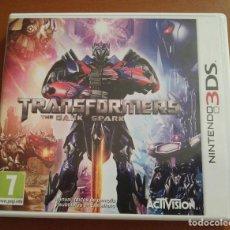 Videojuegos y Consolas: TRANSFORMERS THE DARK SPARK PARA NINTENDO 3DS EN ESPAÑOL COMPLETO. Lote 99890931