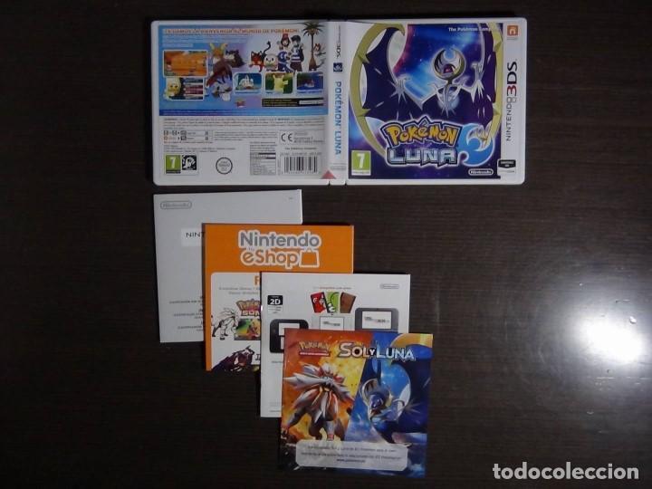 Videojuegos y Consolas: Juego POKEMON LUNA 3DS - COMPLETO - VERSIÓN ESPAÑOLA - Foto 4 - 101783235
