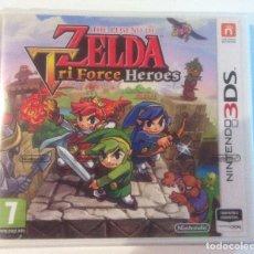 Videojuegos y Consolas: THE LEGEND OF ZELDA: TRI FORCE HEROES NINTENDO 3DS PAL ESPAÑA. Lote 270121688