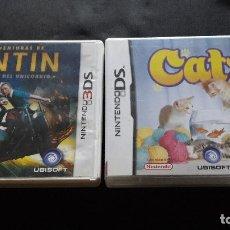 Videojuegos y Consolas: DOS JUEGOS NINTENDO TINTIN 3DS (FALTA LIBRETO) Y CATZ DS COMPLETO. Lote 114714115