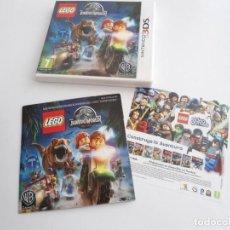 Videojuegos y Consolas: LEGO JURASSIC WORLD - NINTENDO 3DS - COMPLETO CON INSTRUCCIONES - PERFECTO ESTADO. Lote 143350914