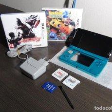 Videojuegos y Consolas: NINTENDO 3DS AQUA BLUE + 4 JUEGOS - SONIC, PAC-MAN 2 - RESIDENT EVIL Y ASTERIX. Lote 155865190