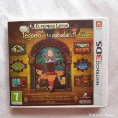 Videojuegos y Consolas: EL PROFESOR LAYTON Y EL LEGADO DE LOS ASHALANTI JUEGO NINTENDO 3 DS. Lote 169019876