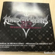 Videojuegos y Consolas: MANUAL KINGDOM HEARTS 3D 3DS. Lote 136172506