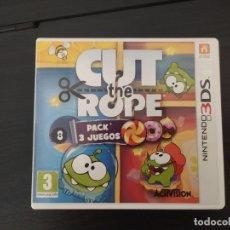 Videojuegos y Consolas: NINTENDO 3DS,CUT THE ROPE, PACK 3 JUEGOS. Lote 174160224