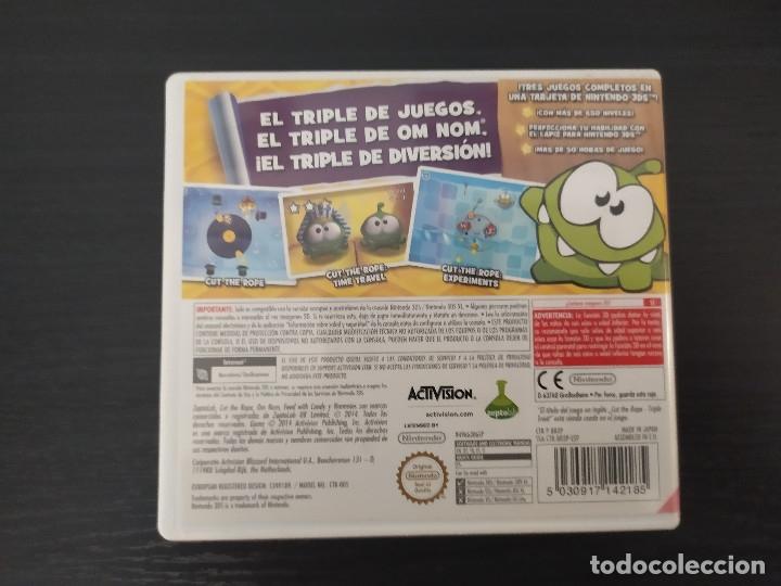Videojuegos y Consolas: nintendo 3ds,cut the rope, pack 3 juegos - Foto 2 - 174160224