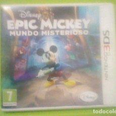Videojuegos y Consolas: EPIC MICKEY 3DS NINTENDO MUNDO MISTERIOSO CAJA Y CARTUCHO FUNCIONANDO . Lote 182624476