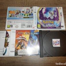 Videojuegos y Consolas: NINTENDO 3DS POKÉMON LUNA PAL ESP COMPLETO. Lote 183386063