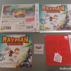 Videojuegos y Consolas: RAYMAN ORIGINS NINTENDO 3DS N3DS COMPLETO PAL-ESPAÑA. Lote 186219887