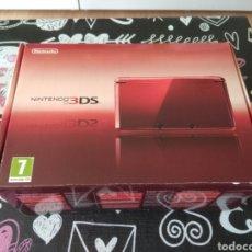 Videojuegos y Consolas: CAJA VACIA NINTENDO 3DS METALLIC RED. ROJO METALICO. Lote 194133085
