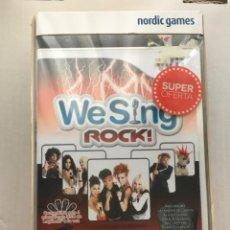 Videojogos e Consolas: WE SING ROCK BUNDLE NINTENDO WII CON DOS MICROFONOS USB WIIU COMPATIBLE. Lote 206568263