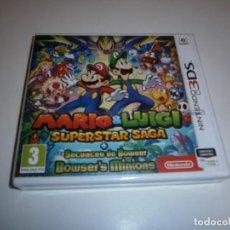 Videojuegos y Consolas: MARIO & LUIGI SUPERSTAR SAGA + SECUACES DE BOWSER NINTENDO 3DS PAL NUEVO PRECINTADO. Lote 209729213
