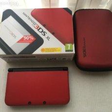 Videojuegos y Consolas: CONSOLA CON CAJA NINTENDO 3DS XL ROJO NEGRO ROJA NEGRA CON CARGADOR FUNDA JUEGO KREATEN. Lote 221817357