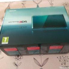 Videojuegos y Consolas: CAJA VACIA NINTENDO 3DS MODELO AQUA BLUE. Lote 222060308