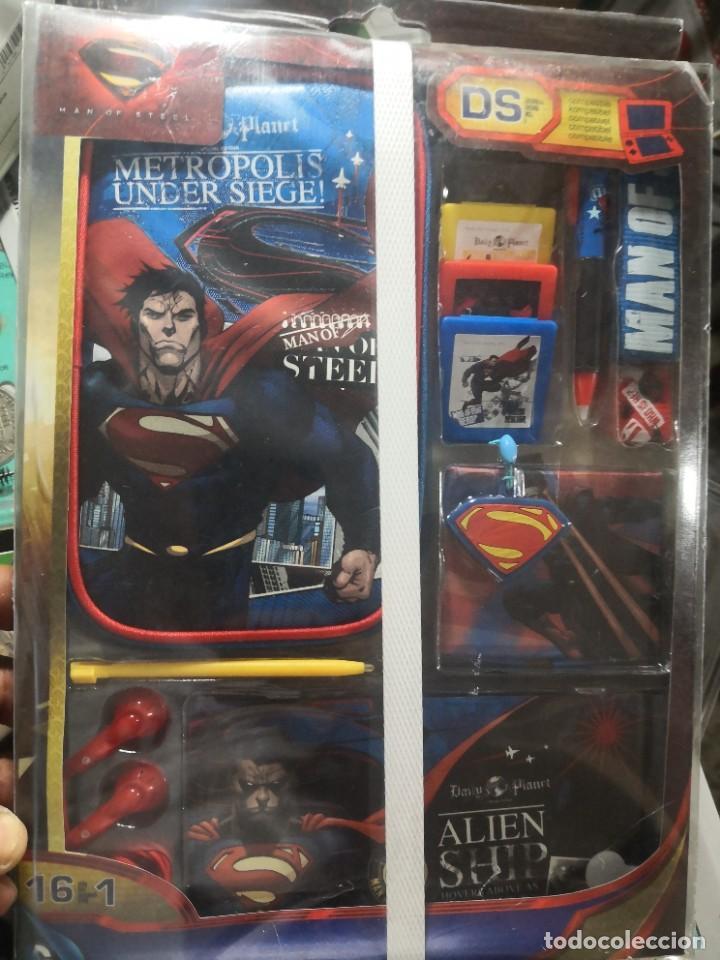 KIT DE ACCESORIOS SUPERMAN COMPATIBLE CON NINTENDO 3DS XL, 3DS,ETC (Juguetes - Videojuegos y Consolas - Nintendo - 3DS)