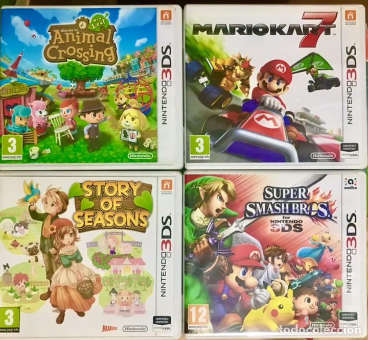 LOTE 4 CAJAS VACIAS NINTENDO 3DS - 3 INCLUYEN LIBRETO MARIO KART ANIMAL CROSSING SUPER SMASH SEASONS (Juguetes - Videojuegos y Consolas - Nintendo - 3DS)
