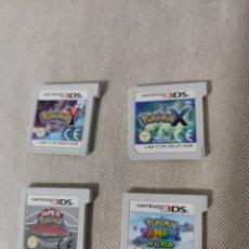 Videojuegos y Consolas: LOTE 4 CARTUCHOS JUEGOS POKÉMON NINTENDO 3DS. Lote 255385850