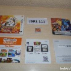 Videojuegos y Consolas: 3DS - POKEMON SOL , PAL ESPAÑOL , COMPLETO. Lote 262622800