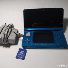 Videojuegos y Consolas: CONSOLA NINTENDO 3DS ( AQUA) + CARGADOR Y TARJETA MEMORIA. Lote 268881379