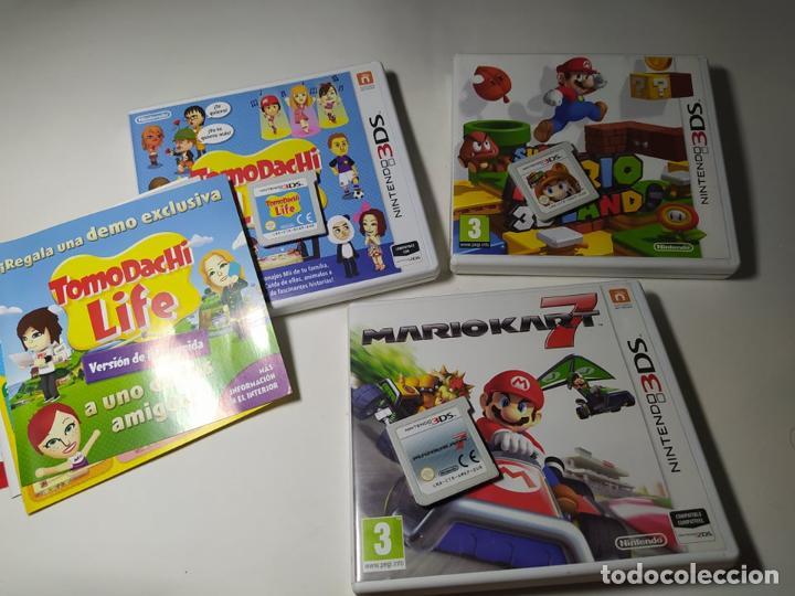 LOTE / PACK 3 JUEGOS MARIO + TOMODACHI ( NINTENDO 3DS - PAL -ESP)(1) (Juguetes - Videojuegos y Consolas - Nintendo - 3DS)
