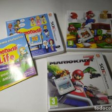 Videojuegos y Consolas: LOTE / PACK 3 JUEGOS MARIO + TOMODACHI ( NINTENDO 3DS - PAL -ESP)(1). Lote 289325423