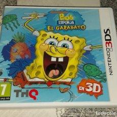Videojuegos y Consolas: BOB ESPONJA EL GARABATO NINTENDO 3DS PAL ESPAÑA. Lote 293743958