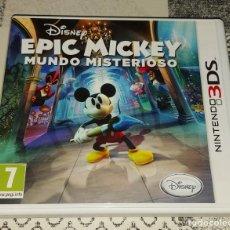 Videojuegos y Consolas: EPIC MICKEY NINTENDO 3DS PAL ESPAÑA COMPLETO. Lote 293788748