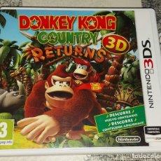 Videojuegos y Consolas: DONKEY KONG COUNTRY RETURNS 3D NINTENDO 3DS PAL ESPAÑA COMPLETO. Lote 293789223